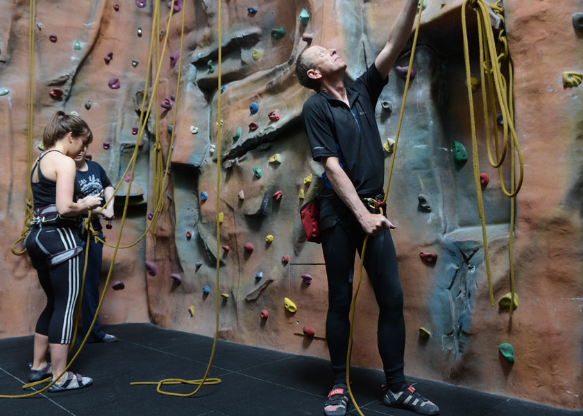 indoor rock climbing at Malvern Active