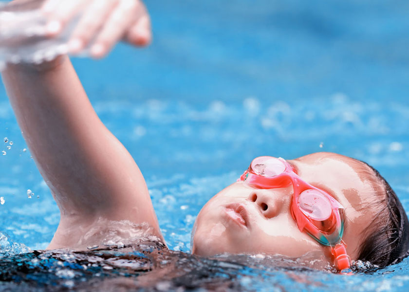 swimming lessons at Malvern Active