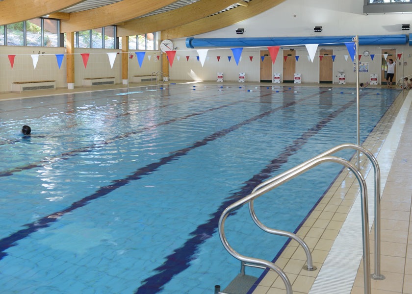 Swimming pool at Malvern Active