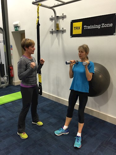 Personal Trainer at Malvern Active Sarah Shaw and her client