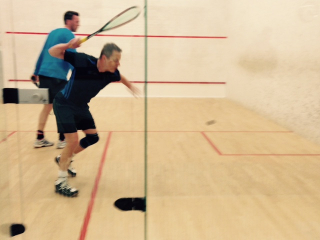 Action Shot of Squash