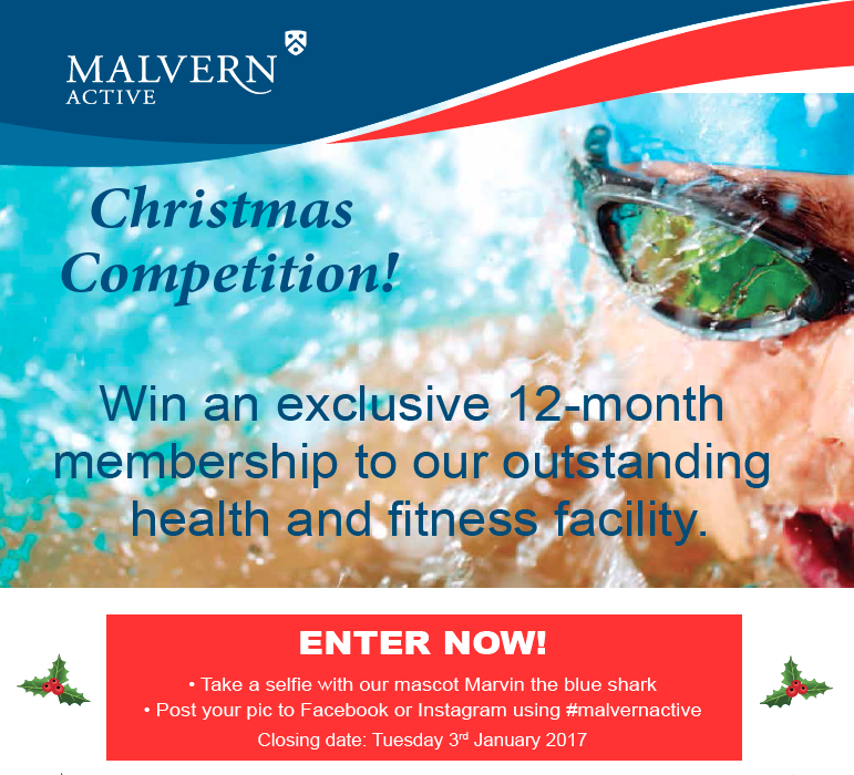 Christmas Competition at Malvern Active